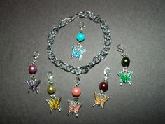 7pc-Silver-Clip-On-Charm-Bracelet-NEW-18-Themes-Faux-Pearl-Gemstone-Crystal