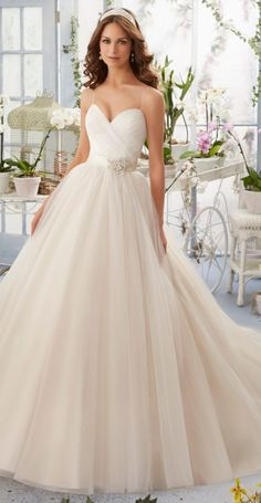 Wedding dress idea; Featured: Mori Lee