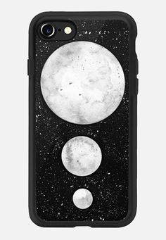 Casetify iPhone 7 Classic Grip Case - Watercolour Moons on Clear by Laurel Mae #Casetify