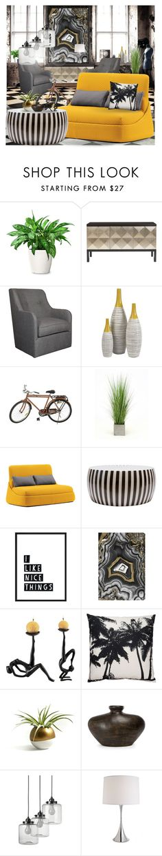 """""""INDUSTRIAL :: 130516"""" by irafra ❤ liked on Polyvore featuring interior, interiors, interior design, home, home decor, interior decorating, Jayson Home, Distinctive Designs, Coalesse and Oliver Gal Artist Co."""