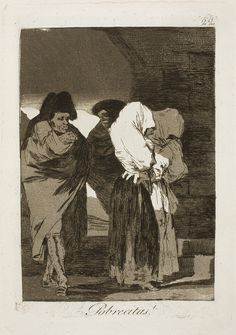 Francisco de Goya - Poor Little Girls! (Etching and Aquatint, Francisco Goya, Spanish Painters, Spanish Artists, Davidson Galleries, Old Master, Gravure, Illustrations, Printmaking, Find Art