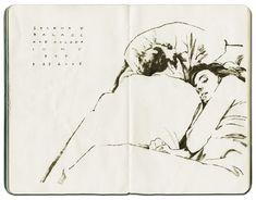 Alessandro Carloni - moleskine sketches.