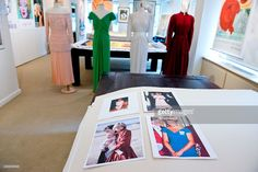 2014--A collection of gowns worn by HRH Princess Diana to be auctioned December 5-6, 2014 on display at Ross Art Gallery on November 12, 2014 in New York City.