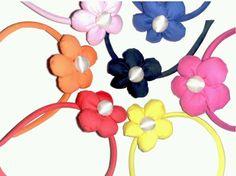 Diadema flor tela