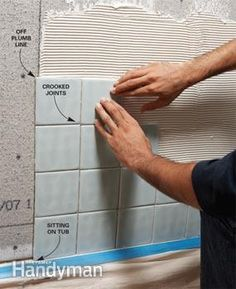 Tiling a bathtub surround