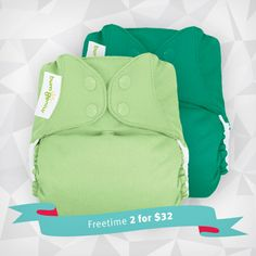bumGenius Freetime - 2 for $32 - Diaper Packages - Cotton Babies Cloth Diaper Store #cottonbabies would love hummingbird, dazzle, armadillo, Albert!!