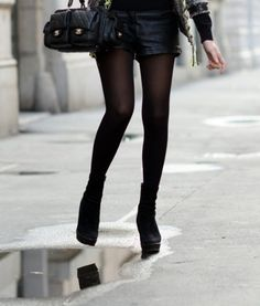 0dfb92d9d7 Black shorts with tights--great for the valley girl who wants to do double  duty with wardrobe!