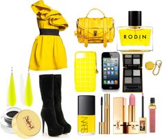 """""""Yellow"""" by hellokitteh9x7 ❤ liked on Polyvore"""