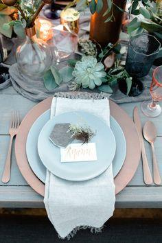 Dusty Blue + Copper Dream Wedding, Ryann Lindsay Photography