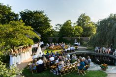 Photography : Averyhouse | Venue : Chicago Botanic Garden | Event Planning : Elevage Events Read More on SMP: http://www.stylemepretty.com/little-black-book-blog/2016/08/15/whimsical-summer-wedding-with-several-cute-cakes/