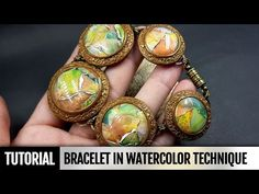 DIY! How to make Beautiful Bracelet in Watercolor technique. Video Tutorial - YouTube