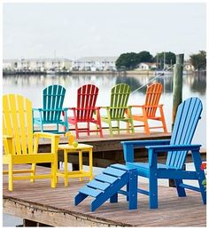 POLY-WOOD™ Adirondack Chairs for beach, dock, deck, patio and more - made for the outdoors!