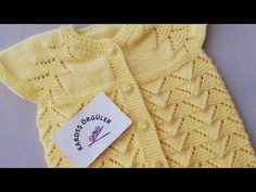 Baby Cardigan Knitting Pattern Free, Knit Vest, Knitting Patterns Free, Baby Knitting, Free Pattern, Crochet, Pullover, Sweaters, Youtube