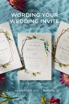 Crafting your wedding invitation is no easy task. Learn how to choose the right phrases, best structures, and more to create the perfect wording for your invites. Wedding Invitation Wording Examples, Formal Wedding Invitations, Wedding Invitation Design, Wedding Favors, Wedding Decorations, Fall Wedding, Diy Wedding, Rustic Wedding, Dream Wedding