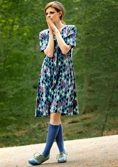 "Robe ""Cirkus"" en coton bio/lyocell–Jupes & robes–GUDRUN SJÖDÉN – Kläder Online & Postorder"