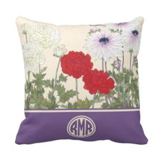 ==> consumer reviews          Vintage Floral Anemones Circle Monogram Pillows           Vintage Floral Anemones Circle Monogram Pillows We have the best promotion for you and if you are interested in the related item or need more information reviews from the x customer who are own of them befo...Cleck Hot Deals >>> http://www.zazzle.com/vintage_floral_anemones_circle_monogram_pillows-189812020198799659?rf=238627982471231924&zbar=1&tc=terrest