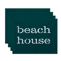 E by Design Beach House Word Print Placemats