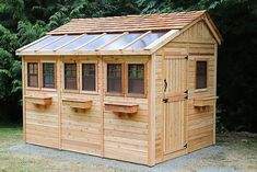 Having a shed in either your back yard or garden is now a popular sight in the majority of today's households. Storing away the kid's bikes and outdoor toys or simply keeping the garden tools safe and dry, a shed is a great storage s Indoor Greenhouse, Greenhouse Ideas, Simple Greenhouse, Greenhouse Wedding, Shed Kits, Storage Shed Plans, Wooden Sheds, Potting Sheds, Outdoor Sheds