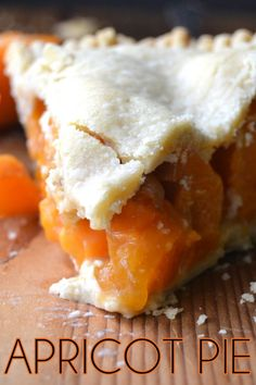 Juicy Apricot Pie baked in a heavenly homemade pie crust! (recipe)