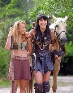 Gabrielle played by Renée O'Connor, Xena  Warrior Princess played by Lucy Lawless----I LOVED THIS SHOW!