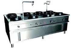 Quemadores de alta potencia. 超强抗高温耐用持久的炉头 qq.com Cocina wok.  为WOK 量身定做的 Especial para noodles.   Diseño practico de  fácil limpieza. 易于清洗的设计 Poco mantenimiento 几乎零成本的维护