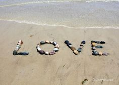 Romantic LOVE Photo- beach photography, coastal decor, word art. Beach theme romantic photograph- Give a unique message of love to someone special- a romantic word created in the sand with beach stones. My new romantic LOVE Beach Wish is the perfect sentiment to pass along to others. I crafted this new version of LOVE in summer and it is just beautiful with the tide gently rising, smoothing the sand around my word. My loving sentiment is such an important image to share, a wish for hope…