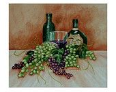 Beyond the Harvest (Wine Bottles and Grapes) - Limited Edition Giclee