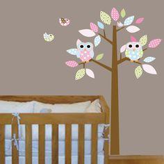 Childrens wall decals nursery wall art with owls by wallartdesign, $99.00