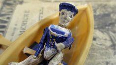 Vintage Skeleton Sailor in Row Boat  by UrbanRenewalDesigns, $15.00