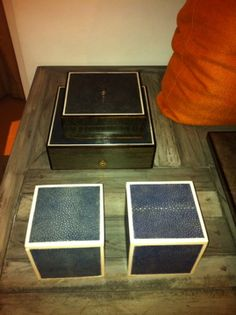 Shagreen Boxes by W/17
