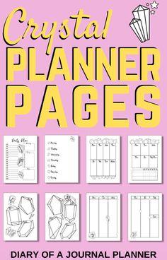 We've got a whole month of planner pages covered with these gorgeous crystal themed planner sheets for you to print! #printables #plannerprintables #planneraddict #planner #plannertheme Daily Planner Pages, Printable Planner Pages, Bullet Journal Printables, Planner Template, Planner Inserts, Templates Printable Free, Daily Planners, Personal Planners, Planner Sheets
