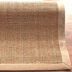 nuLOOM Sisal Sand / Beige Border Contemporary Rug