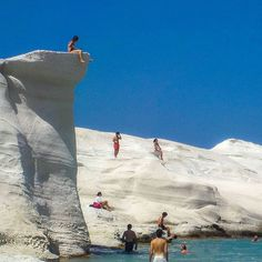 The island of Milos.  Just amazing and different!!