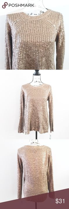 """INC Bronze Shimmer Sweater INC Bronze Shimmer Jewel Neck Long Sleeve Casual Sweater.   Material: Acrylic Blend Small: Bust: 33 1/2"""" - 34 1/2"""", Waist: 25""""-26"""" Large: Bust: 38"""" - 39 1/2"""", Waist: 29 1/2 - 31"""" XLarge: Bust: 41"""", Waist: 32 1/2"""" Condition: New With Tags INC International Concepts Sweaters Crew & Scoop Necks"""