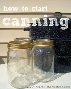A complete canning tutorial with tons of pictures. Include instructions for applesauce and pearsauce too.