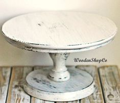 Hey, I found this really awesome Etsy listing at https://www.etsy.com/listing/450574416/white-cake-stand-shabby-white-cake-stand