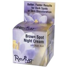 Reviva Labs, Brown Spot Night Cream with Kojic Acid, 1 oz (28 g) - iHerb.com - Didn't work to my skin problem, won't be ordering again.