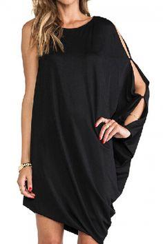 Love this Asymmetric Shoulder Sheer Black Dress! Latest Street Fashion, Latest Fashion For Women, Love Fashion, Fashion Design, Womens Fashion, Sheer Dress, Dress Skirt, Dress Up, Black Dresses Online