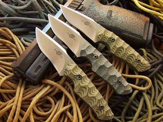 """Shawn Knowles Custom Knives New Model at SKCK...The Bantam 6"""" overall 2 3/4 """" blade These are Bohler N690 steel G10 scales."""