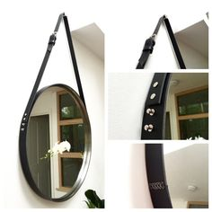 Beautiful Leather Strapped Mirror KIT. MIRROR NOT INCLUDED. I WILL TELL YOU WHERE TO BUY THIS MIRROR! Have you always wanted the look of an Adnet