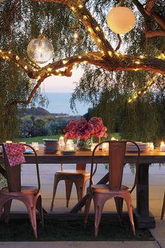 lighting for a romantic evening | Iluminación para una noche romántica