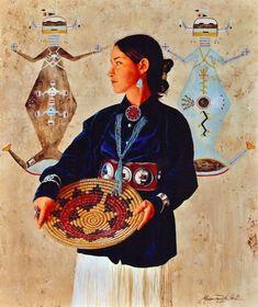 Hozhon by Marianne Millar kp Native American Wisdom, Native American Pictures, Native American Artwork, Native American Design, Native American Women, American Indian Art, Native American Indians, Navajo Culture, Chibi Body