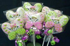 Butterfly princess cookie pops