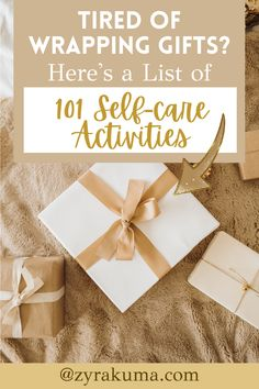 Are you looking for a list of self-care activities to do on a Sunday or after wrapping presents for Christmas? Here are 101 self-care Sunday ideas to add to your self-growth bucket list. This is great if you're looking to take a break from building your business or looking for something relaxing to do. | christmas self care aesthetic | merry christmas self care | christmas self care tips | christmas self care night | after christmas self care Sunday Activities, List Of Activities, Self Care Activities, Sunday Routine, Wrapping Presents, Social Media Detox, Self Discipline, Self Improvement Tips, Screwed Up