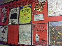 Get pupils to make their own adverts and create a wonderful display. Primary History, Primary School Art, Primary Teaching, Teaching History, Secondary School, Classroom Display Boards, Classroom Walls, Classroom Displays, Class Displays