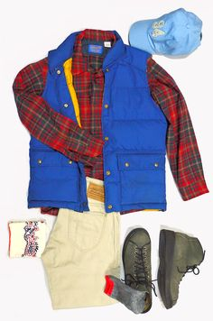 80's Down Vest and Virgin Wool Shirts