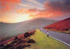 The Horseshoe Pass and Moel Gamelin, Llangollen, North Wales, UK