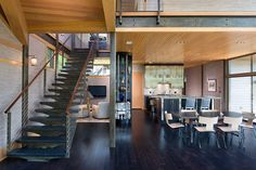 Steel framing supports walls of glass in soaring South Carolina island home Steel Framing, Modern Craftsman, Floor Colors, Glass House, Architect Design, Contemporary Architecture, Great Rooms, Luxury Homes, Flooring