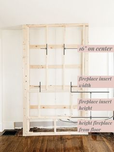 Step by step tutorial on how to build an inexpensive shiplap fireplace using an electric insert. Transform your boring TV wall into a statement piece. Fireplace Feature Wall, Diy Fireplace Mantel, Fireplace Tv Wall, Build A Fireplace, Fireplace Built Ins, Shiplap Fireplace, Fireplace Remodel, Fireplace Inserts, Living Room With Fireplace
