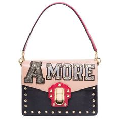 1d307fc9e9bf Dolce   Gabbana Studded Shoulder Bag (€3.385) ❤ liked on Polyvore featuring  bags